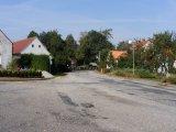 Obec Heřmaň - pohled od autobusové zastávky směrem na České Budějovice